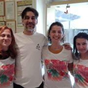Silvia, Luca, Michela en Giulia